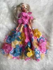 Superstar Barbie 1976 Doll Pink Gown, Boa, Rhinestone Jewelry Booklet PRETTY!