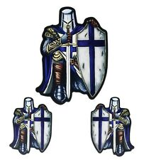 Blue Knight Thin Line Law Enforcement Set Of 3 Sticker IVANS1037 D224