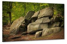 Leinwand Bild Leinwand Bild Felsenmeer Lautertal Odenwald Steine Wald Höhle Deut