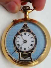 MUSEUM Qing Dynasty Chinese single motion Automaton gild Dragon pocket watch.