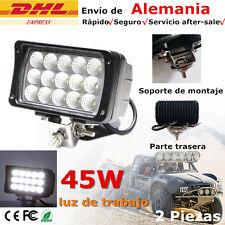 2 X 45W LED Luces de trabajo FOCO ILUMINAR Jeep Tractor barco de camión 12V 24V