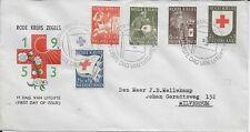 Netherlands Nederland Scott B254-B258 Fdc Red Cross Rotes Kreuz August 24, 1953
