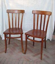 2 Sedie THONET seduta in legno a scudo - Originali Liberty  Marcate - MOLTO RARE