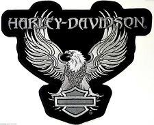 HARLEY DAVIDSON RETRO UP WING SILVER EAGLE  PATCH 10 INCH (XXL) HARLEY PATCH