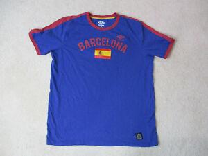 Umbro Barcelona Shirt Adult Extra Large Blue Red Spain Soccer Futbol Mens