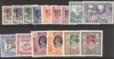 Burma #70-84 Mint Nh - 1947 Overprint Set ($49)