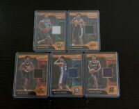 Lot of 5 2019-20 Prizm Sensational Swatches Orange Ice Rookies w/ Thybulle