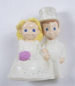 MATTEL BRIDE & GROOM  WEDDING CAKE TOPPER FIGURES TOY 2002