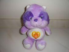 "Vintage Care Bear Cousin Bright Heart Raccoon 13"" Plush Stuffed Animal American"