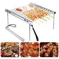 1Set Portable Folding Camping Grill Barbecue Stainless Steel BBQ Grill  US