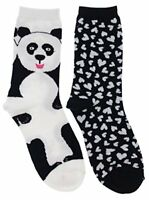DAVCO Womens Trick Or Treat Dog Crew Socks 9.5-11 Black