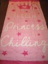 LITTLE PRINCESS BEACH TOWEL GIRLS SWIMMING TOWEL HOLIDAY TOWEL CROWN & STARS FAB