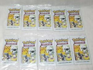 10 X PACKS FOIL PIKACHU Cinnamon Toast Crunch Cereal Pokemon 25th Anniversary