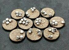 25mm resin bases Skulls