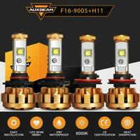 4 Bulbs Kit H11 9005 6000K LED 120W 12000LM Combo Headlight Hi-Lo Beam AUXBEAM