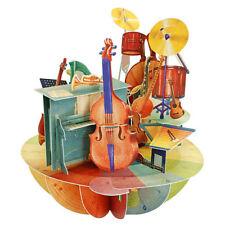 Santoro 3D Pirouettes Greeting Card- MUSIC - SG-PO-055