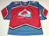 NHL Hockey Vintage 90s Colorado Avalanche Jersey Kids Youth L/XL Large Starter