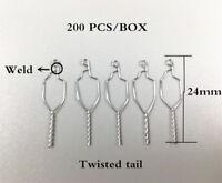 200PCS Dental Preformed Ligature Wires Orthodontic Kobayashi Weld Twisted 012