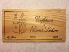 1 Rare Wine Wood Panel Confidences Prieuré Lichine Vintage Crate Box 3/18 124