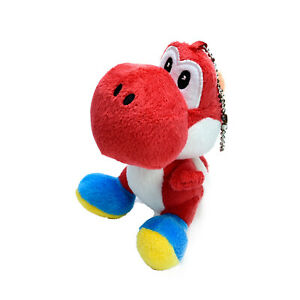 Nintendo Red Yoshi Plush Keychain Soft Stuffed Toy Washed and Clean 14cm