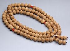 14mm Tibet Buddhism 108 Peach pit Phoenix eyes Bodhi seeds Mala Necklace