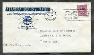 p1189 - TORONTO 1943 Atlas Radio Corp ILLUSTRATED Advertising Cover