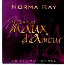 (BE132) Norma Ray, Tous Les Maux d'Amour - 1998 DJ CD