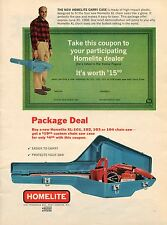 1968 Print Ad of Homelite XL-103 Package Deal Chain Saw Port Chester NY