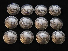 / Buttons / (tails) 12 Buffalo Nickel Concho
