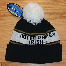 NWT TOP OF WORLD Notre Dame Fighting Irish Mens Knit Beanie Tossle Hat-OSFM