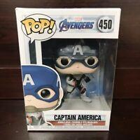 """Funko Pop Marvel Avengers Endgame : Captain America #450 Vinyl w/Case """"MINT"""""""