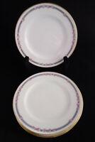C Ahrenfeldt Depose Limoges Bread Salad Plate Lot 4 Pink Roses Blue Gold Antique