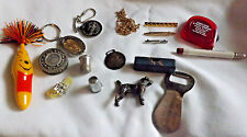 Small Box of 16 Nice New and Vintage Jewelry & Advertising Items