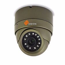 Grey Dome Camera 3MP TVI Full HD 1080p 20m 3.6mm Lens IP66 with base ring CCTV