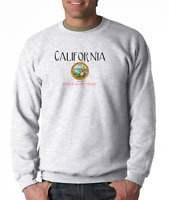 Gildan Crewneck Sweatshirt City State Country California Seal Home Sweet