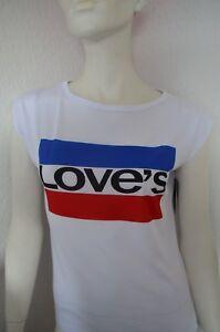 """Damen T-Shirt mit Print-Druck """" LOVE`S """""""