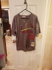 St.louis cardinals Lou Brock #20 GRAY Large  Jersey really nice