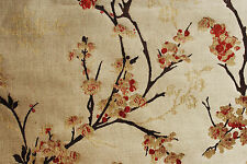 'Blossom Weave' furnishing fabric by John Lewis, russet, remnant of 1.65m length