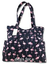 Vera Bradley Pleated Tote Shoulder Handbag in Flamingo Fiesta