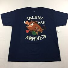 Disney Exclusive Lion King Timon & Pumba Shirt Mens Size XXL Talent Has Arrived