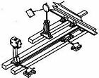 DETAILS WEST HO SCALE 1/87 SWITCH STAND WITH INTERLOCK   917