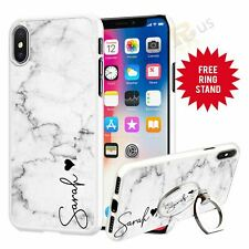 Personalised Marble Phone Case And Ring Stand Phone Finger Me Holder 069-5