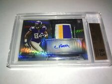 2013 BOWMAN STERLING ROOKIE PRIZM REF C.PATTERSON 3XJERSEY AUTO 9/55 BGS9.5/10