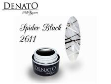 Spider Gel Black 5ml UV LED Gel Gum Consistency Perfect for Nail Art Denato UK