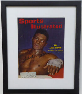 Floyd Patterson Autographed Signed Framed Sports Illustrated Beckett A19584