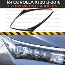 Eyelids Eyebrows Headlights Covers for Toyota Corolla XI 2013-2016 plastic ABS