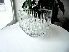 "Clear Diamond Point & Spears Crystal Bowl 6"" Wide"
