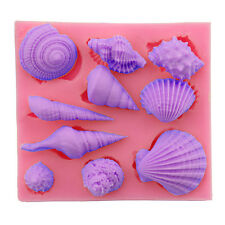 Starfish Sea Shells Mould Fondant Cake Chocolate Sugarcraft Mold DIY Tool