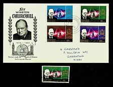 SOUTH ARABIA 1966 WINSTON CHURCHILL 4v ON ILLUSTRATED FDC TO GB W/1v