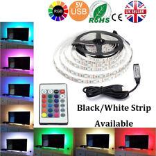 2M 5V SMD5050 RGB LED STRIP LIGHT WATERPROOF IR REMOTE CONTROLLER TV PC CABINET
